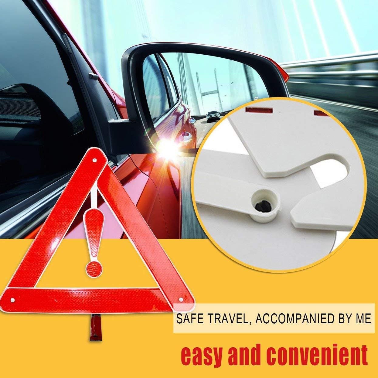 Tellaboull for Automóvil Placa de Advertencia Reflectante Detener Vehículo Peligro Emergencia Trípode Plegable Carretera Estacionamiento Triángulo de ...