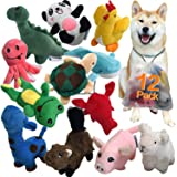 LEGEND SANDY Squeaky Plush Dog Toy Pack for Puppy, Small Stuffed Puppy Chew Toys 12 Dog Toys Bulk with Squeakers, Cute…
