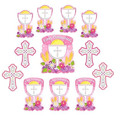 Amscan 190147 First Communion Value Pack Cutouts, Multi Sizes, Multicolor: Kitchen & Dining