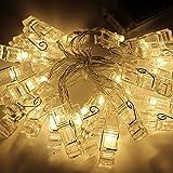 クリスマスツリー・飾り LEDストリングライト フォトクリップ フラッシュカラー ledフェアリー・ストリング・ライト バッテリー・ガーランド ホーム飾り  暖かいホワイト 3m