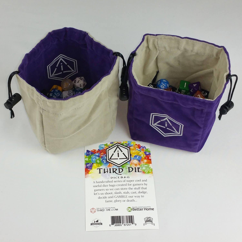 高品質の激安 Third Die B013608Z8E Dice Bag - - Handcrafted And For Reversible Drawstring Bag That Stands Open On The Table - For All Your Gaming Needs B013608Z8E, 原田こうじ味噌:17cf3024 --- irlandskayaliteratura.org