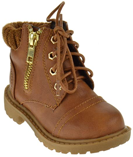 60b00f2d78b Timber 171KS Baby Girls Combat Lace Up Boots Toddler
