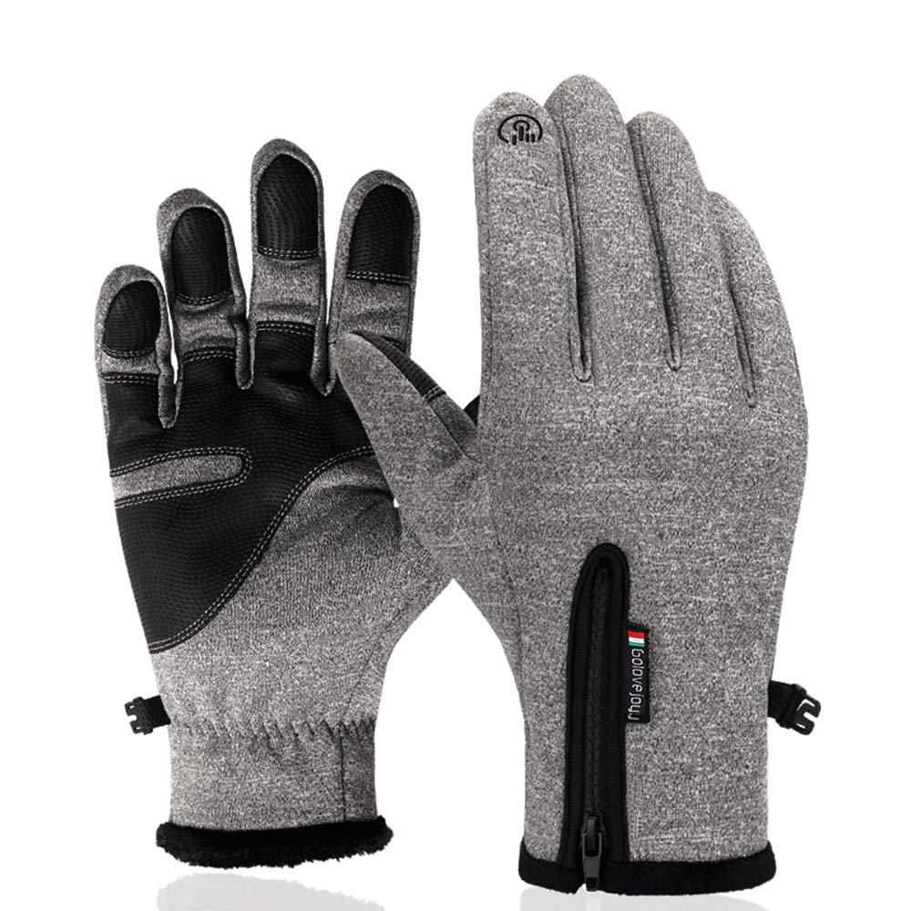 Rosepoem Wasserdichte Touchscreen-Handschuhe - Außen Wasserdichte und Winddichte warme Touchscreen-Handschuhe