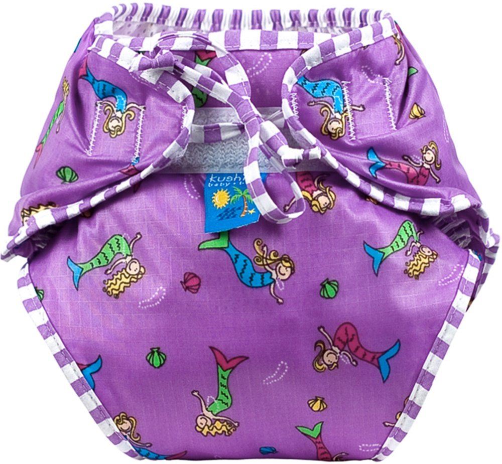Kushies Baby Unisex Swim Diaper - Large,Mermaids Print,Large, C627-MER