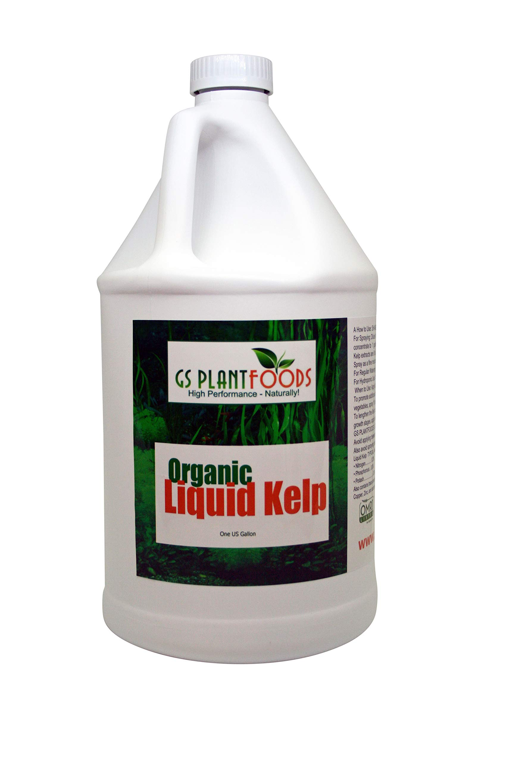 Liquid Kelp Organic Seaweed Extract 1 Gallon Fertilizer Concentrate by GS Plant Foods