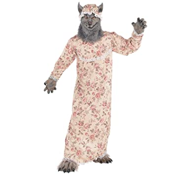 Amscan Dress Up 9902093 Grandma Wolf Costume, Non Solid Colour, 6 8 Years