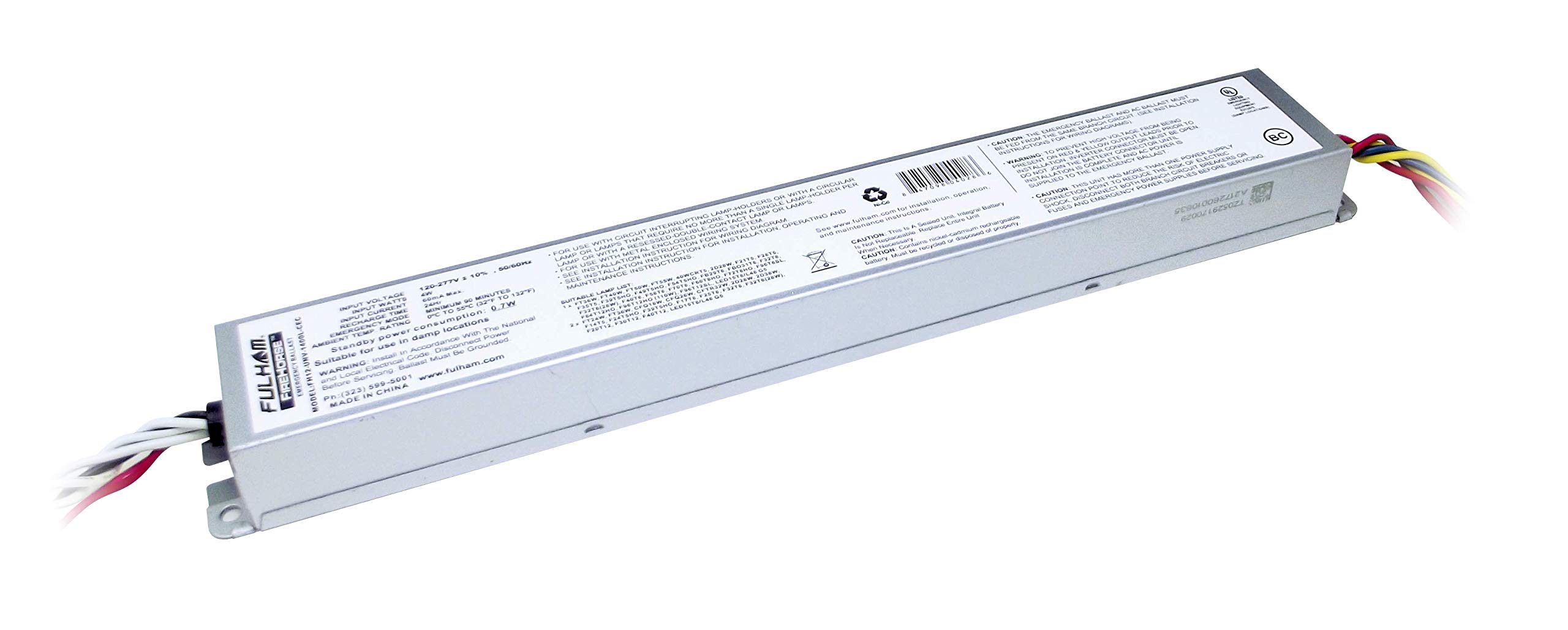 Fulham Lighting FH12-UNV-1400L-CEC FireHorse 12-Emergency Ballast-Universal Voltage-1400 Initial Lumen Output