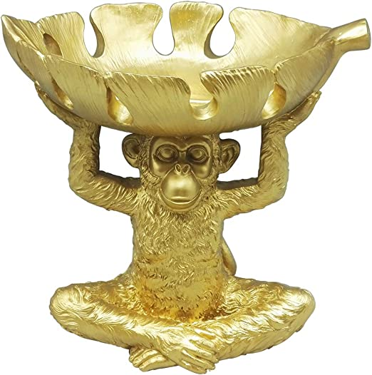 Cute Elephant Wear Hat on Boat Tropical Fruit Banana Float Market Brass Figurine