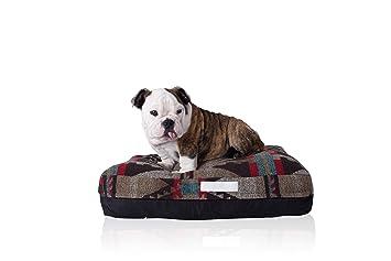 Laifug Cama de Espuma viscoelástica de Doble Cara para Mascotas y Perros con Funda Extraíble Lavable (Pequeño (58x45x12cm), Estilo Indio/Negro: Amazon.es: ...