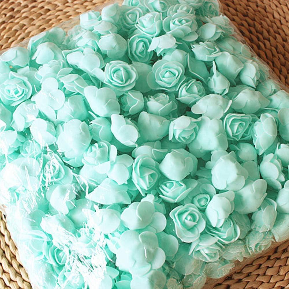 XdiseD9Xsmao 500 Pcs PE Mousse Romatic D/élicate Rose T/ête Fleur Artificielle pour DIY Ours Poup/ée De Mariage Maison D/écor De No/ël Rouge