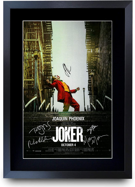 HWC Trading Joker The Cast Joaquin Phoenix Zazie Beetz Marc Maron Todd Phillips - Póster con autógrafo firmado para los fans de la película (tamaño A3)