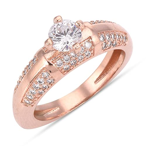 Buy Tistabene Retails Contemporary Solitaire Finger Ring Rose Gold