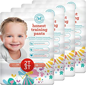 The Honest Company Training Pants, Fairies 2T/3T, 104 Count