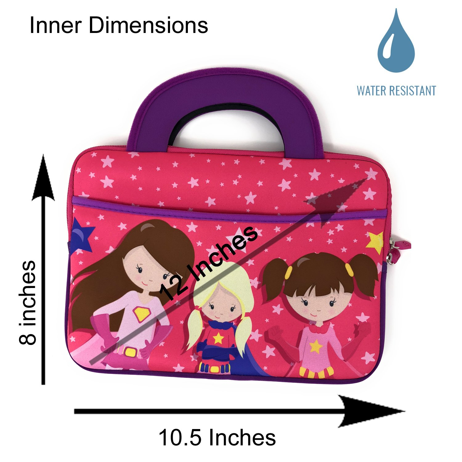 e7fb500603ec1 Travel Portable Kids Activity Bag Girl Boy for Amazon Fire HD 8 Kids  Edition Tablet Sleeve Handles Tote Neoprene Portfolio Case Accessory Pocket  New ...