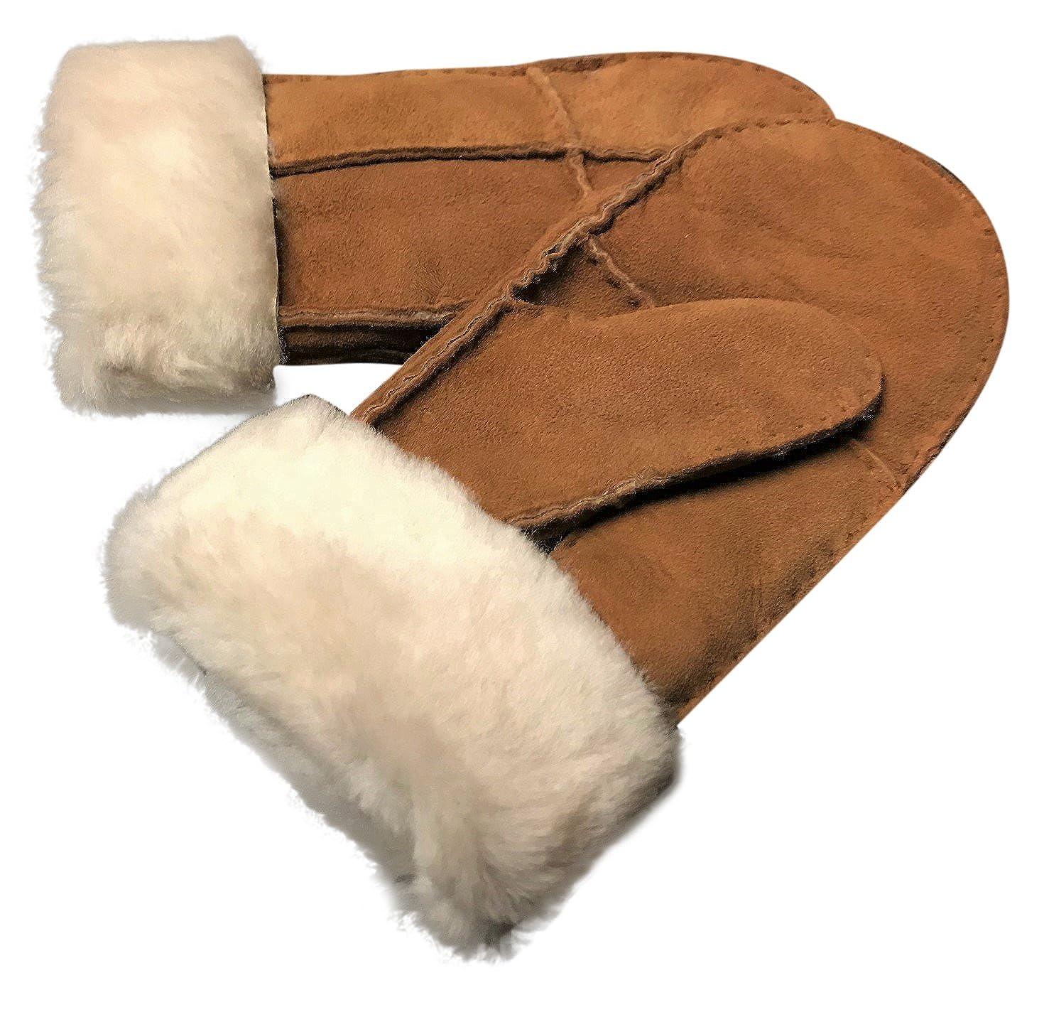 NEW KIDS CHILDRENS SHEEPSKIN MITTENS REAL SHEEP SKIN WARM WINTER GLOVES SKIIING hj/6454