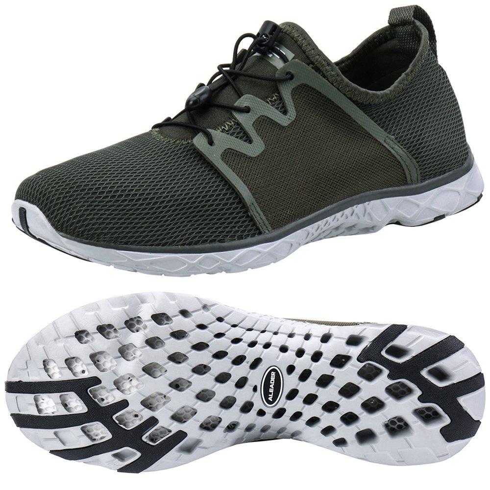 ALEADER Women's Adventure Aqua Water Shoes Army 7.5 D(M) US