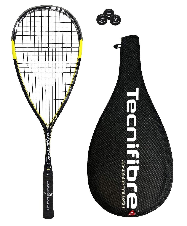 Tecnifibre Carboflex 125 Basaltex - Raqueta de squash + 3 Pelotas ...