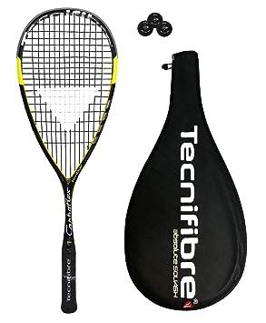 Tecnifibre Carboflex 125 Basaltex - Raqueta de squash + 3 Pelotas de squash Dunlop £165: Amazon.es: Deportes y aire libre