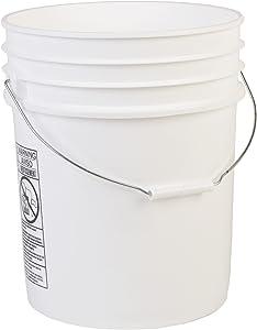 Hudson Exchange Premium 5 Gallon Bucket, HDPE, White