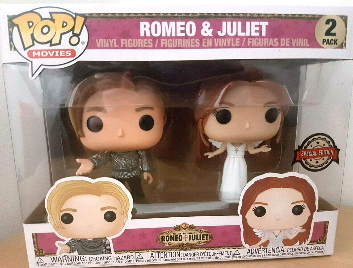 Funko - Figurine Romeo & Juliet - 2-Pack Romeo & Juliet Exclu Pop 10cm - 0889698373098: Amazon.es: Juguetes y juegos