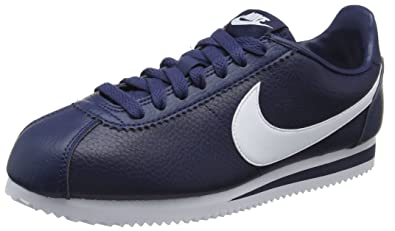 brand new 498f6 87b3e Nike Classic Cortez Leather, Men s Running Shoes Running Shoes, Black (Midnight  Navy