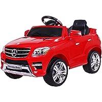 moleo- Voiture Electrique pour Enfants Mercedes-Benz ML avec 2 Moteurs MP3 à Télécommande Rouge, 5902425378014, Rot