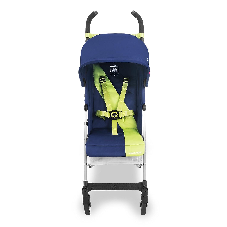 Maclaren Triumph Silla de paseo - ligera, de los 6 meses hasta los 25 kg, Asiento multiposición, suspensión en las 4 ruedas, Capota extensible