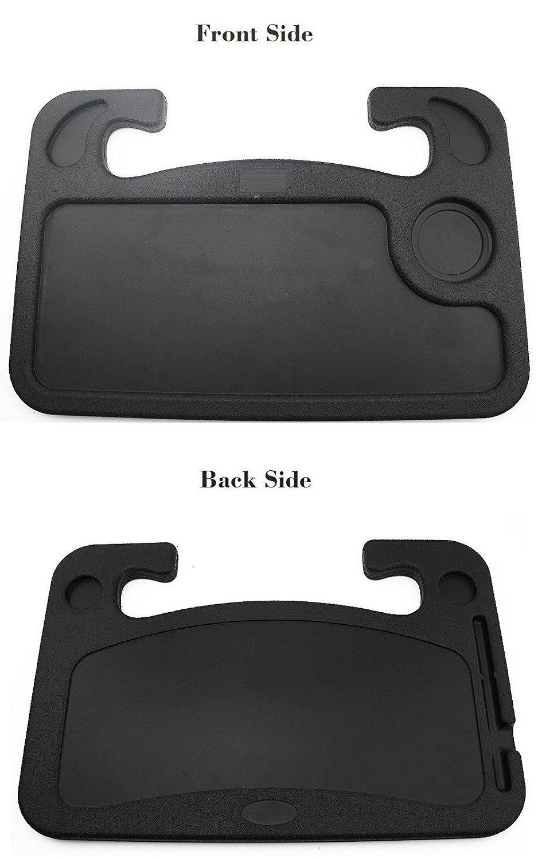 Amazon.es: Bandeja para portátil para coche de Coolper, escritorio, mesa de comedor de plástico para el asiento del pasajero en el volante con portavasos