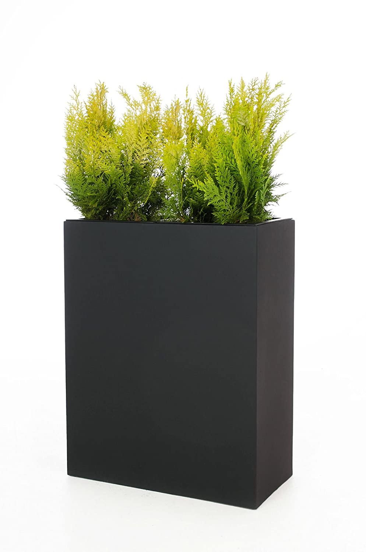 Pflanzkübel Raumteiler aus Fiberglas Elemento 59 cm, Anthrazit
