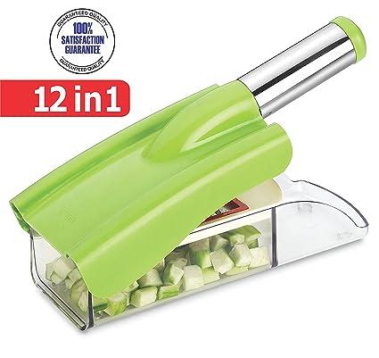Ritu stainless steel 12 in 1 chipser slicer green and white amazon ritu stainless steel 12 in 1 chipser slicer green and white fandeluxe Gallery