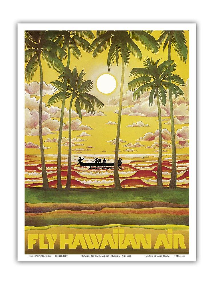 Amazon.com: Hawaii - Fly Hawaiian Air - Hawaiian Airlines - Vintage ...
