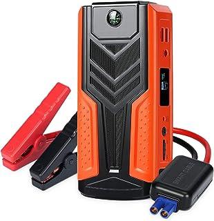 SURPOWN arrancador de coche 1200 A pico, 12 V batería portátil Booster (hasta 8 L gas, 6 L motor diésel), banco de energía tipo C entrada/salida y puertos de carga rápida USB