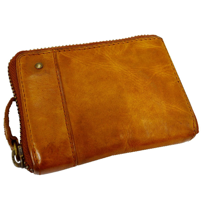 [GRUNGEALL]コインケース 革 メンズ レディース 小銭入れ カードケース 財布 GR171 B0727N65NY  ブラウン
