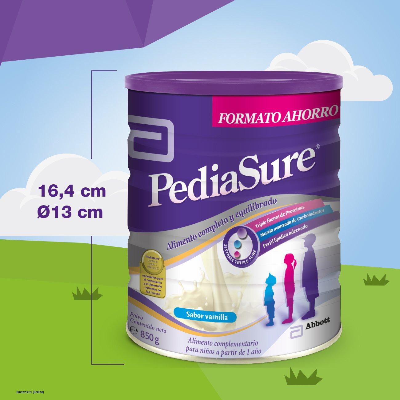 PediaSure Polvo lata 850g sabor vainilla. Alimento completo y equilibrado para niños a partir de 1 año de edad: Amazon.es: Salud y cuidado personal