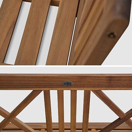 Alices Garden - Banco de madera-120x60cm: Amazon.es: Jardín