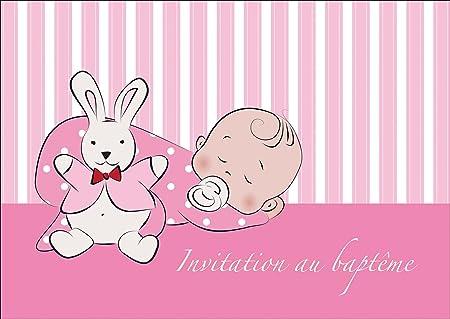 french baby girl christening card christening invite invitation card