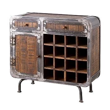Möbel Ideal Kommode Saigon Aus Mangoholz Und Metall Weinregal Im