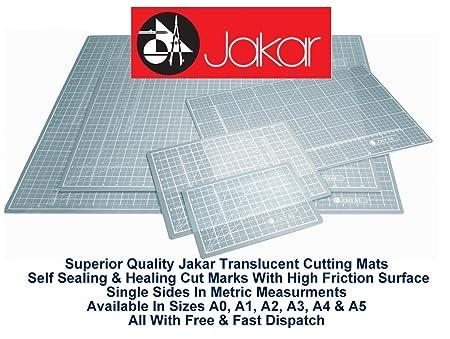 Jakar Translucent Self Healing Cutting Mat A2 Single Sided Cm Metric