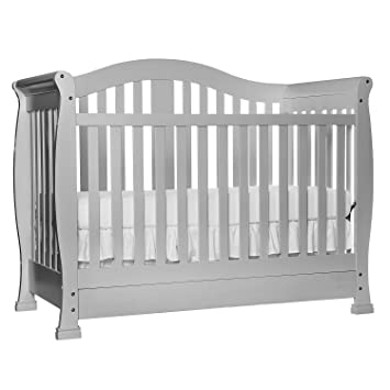 Dream On Me Addison 5 In 1 Convertible Crib With Storage, Grey