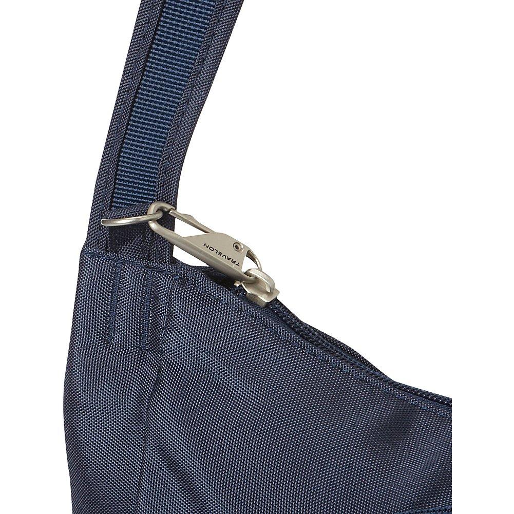 Travelon Anti-Theft Classic Crossbody Bucket Bag Pewter