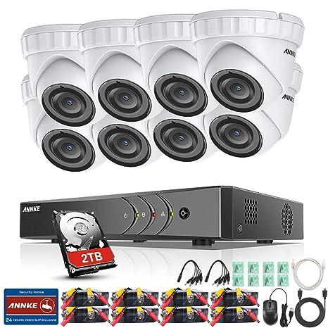 ANNKE 8CH 3MP DVR Kit videovigilancia Sistema de 8 Cámaras de Seguridad 1920*1536P Metal