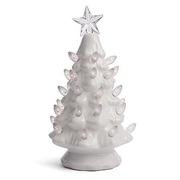 White Ceramic Christmas Tree.Milltown Merchants Ceramic Christmas Tree Tabletop Christmas Tree With Lights Lighted Vintage Ceramic Tree Small White