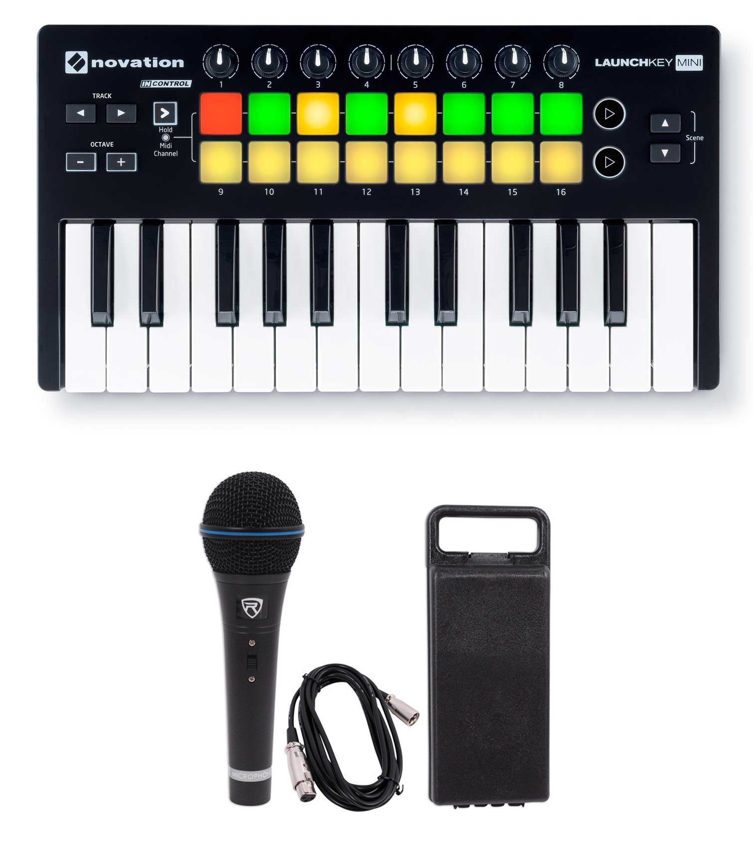 Novation LAUNCHKEY MINI MK2 25 Key USB Keyboard Controller+Mic+Cable+Case
