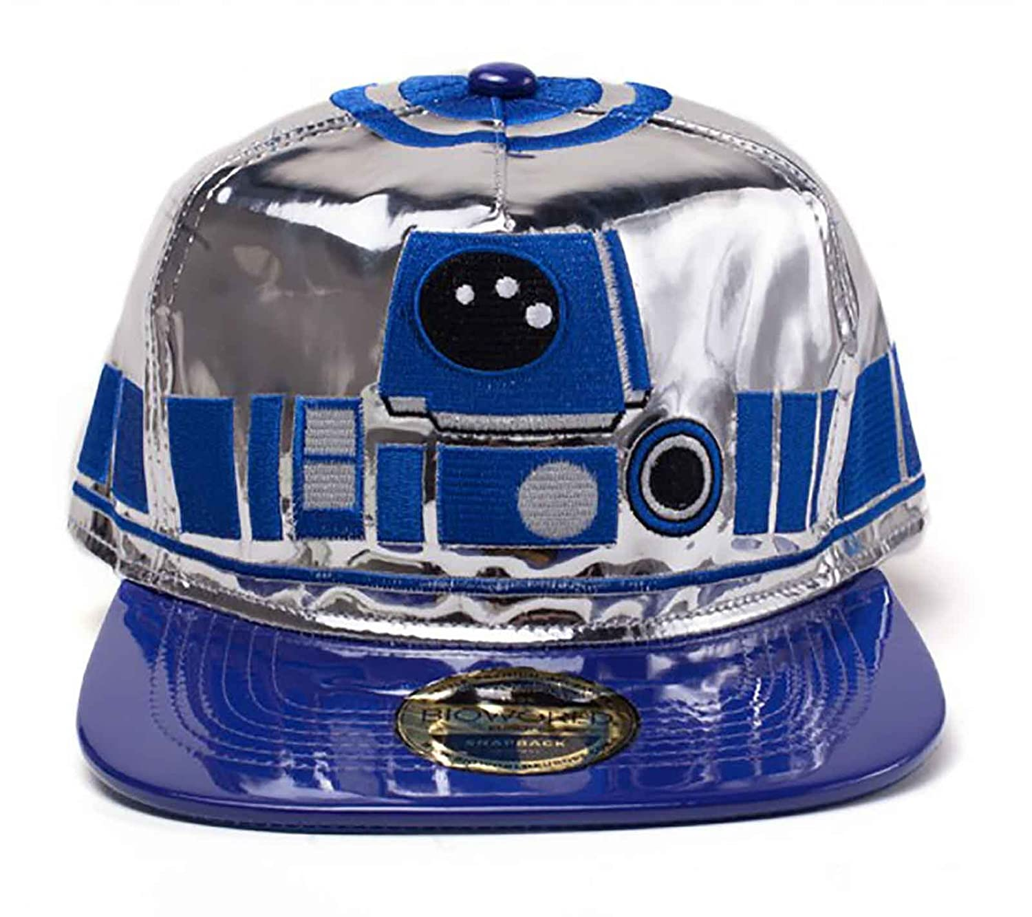 Amazon.com  Star Wars Baseball Cap R2-D2 Droid Body Metal Look Official  Snapback Blue  Clothing 098c1edfb6a