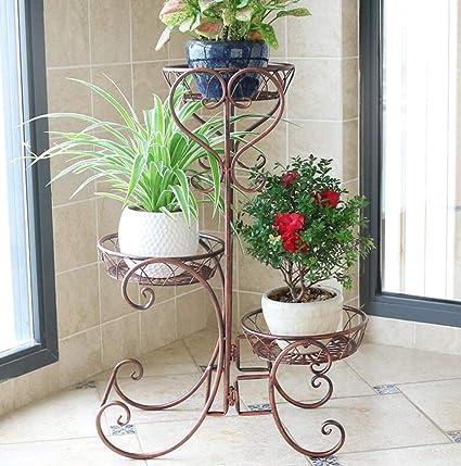 EU13 Soporte de Flores para balcón, Soporte de exhibición para Plantas de macetas con Piso