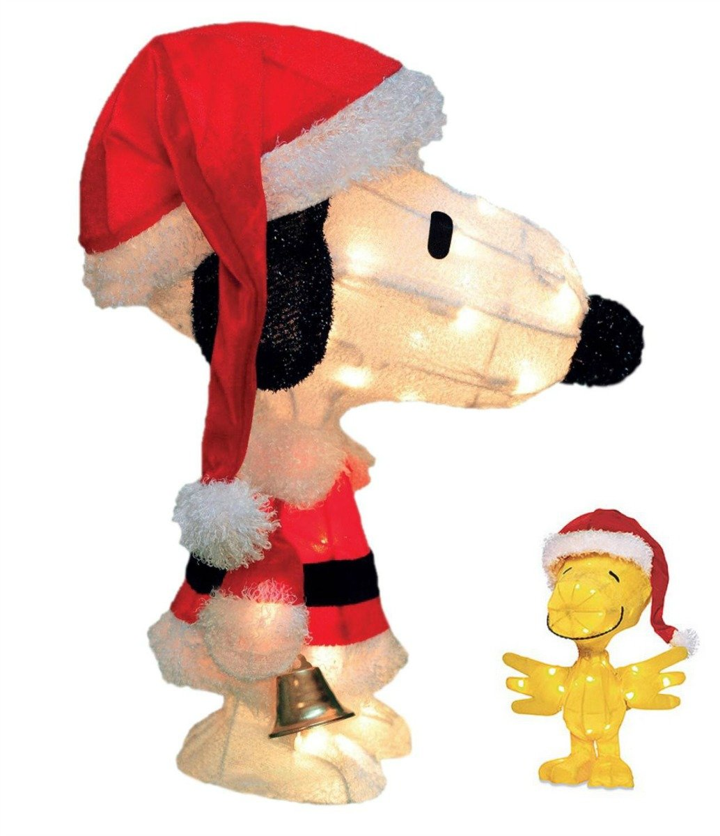 Snoopy and Woodstock Christmas Lawn Decoration Bundle