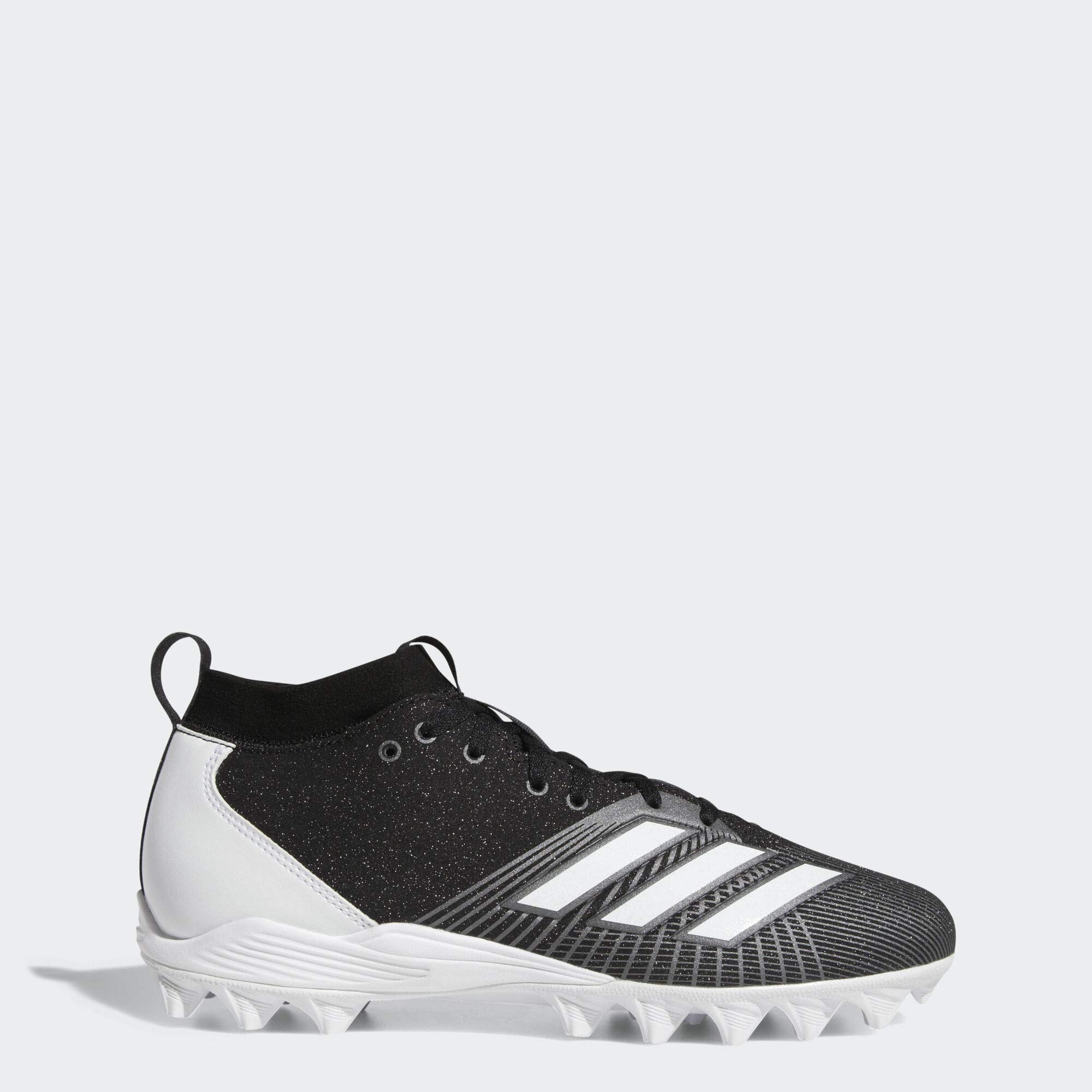 adidas Men's Adizero Spark Md Football Shoe, Black/White/Night Metallic, 9 M US by adidas