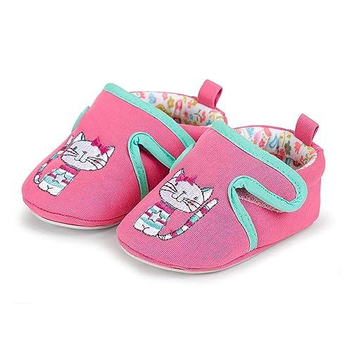 Sterntaler Baby Crawling Shoes, Zapatillas de Estar por casa Bebé-para Niñas, Rosa (Hot Pink 718), 20 EU: Amazon.es: Zapatos y complementos