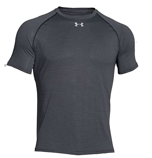 Under Armour Stripe Tech T-Shirt - Black - Medium