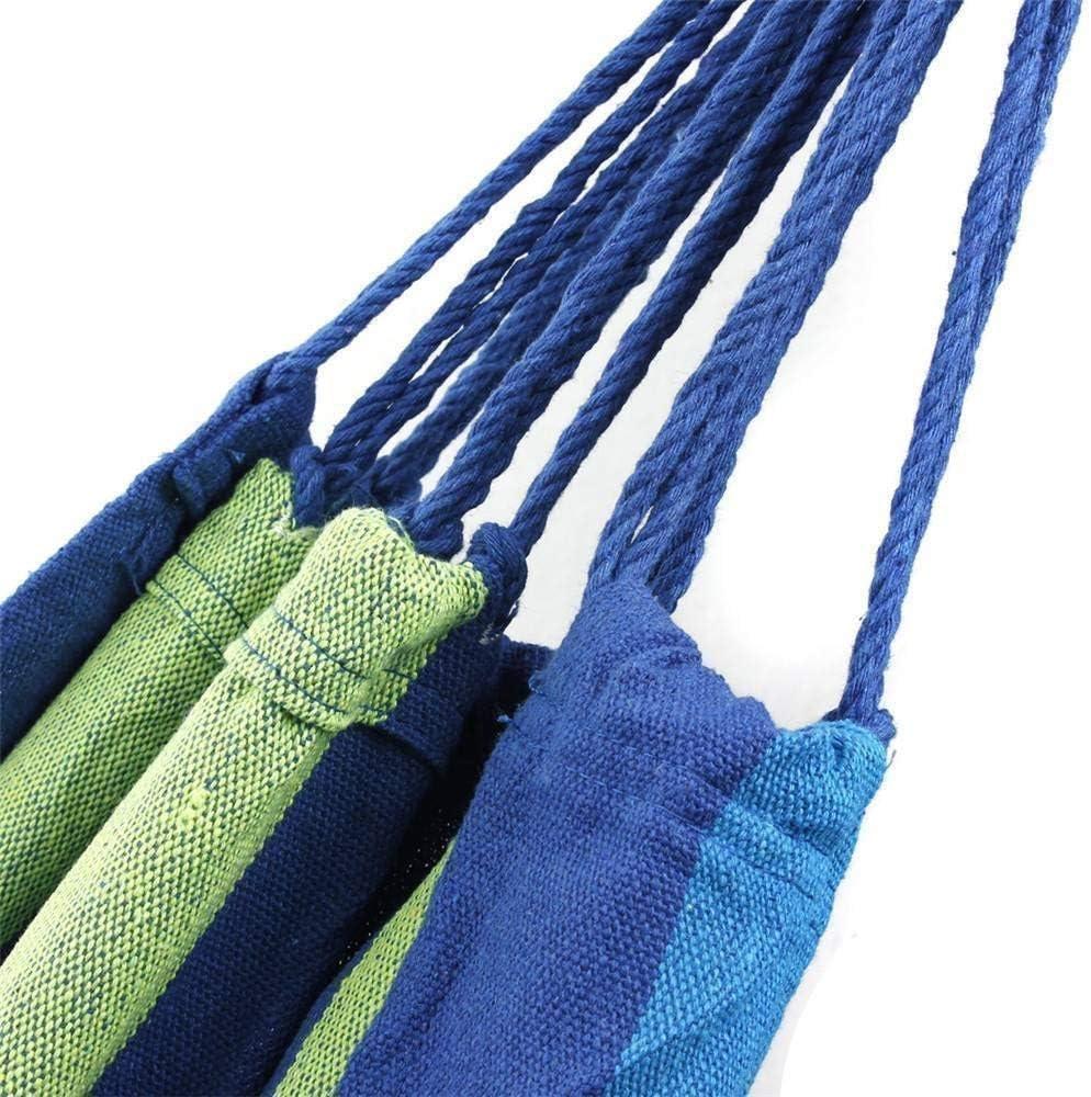 Capacidad de Carga de hasta 200 kg Etravel Hamaca al Aire Libre Camping Jard/ín Playa Viajes de Lona Hamaca de algod/ón port/átil con Bolsa de Transporte Azul